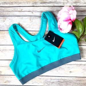 Nike Blue/Teal Athletic Medium Support Sports Bra